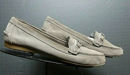 Women's Coach Putty Slate Nubuck Casual Loafer Sz 7.5 Excellent! - $37.53