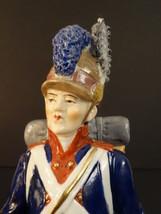 """SITZENDORF SOLDIER LIGHT INFANTRY 1775-83 PORCELAIN FIGURE 8""""1/4 EMPIRE - $150.00"""