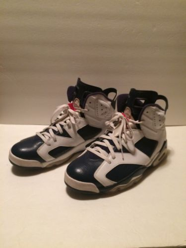 competitive price d50a0 10983 VNDS NIKE AIR JORDAN VI 6 RETRO OLYMPIC US 14 WHITE NAVY BLUE 384664-130