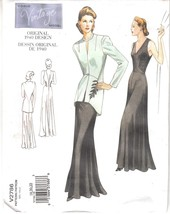 Vogue 2786 Dress Flared Close Fit Jacket Fitted Sewing Pattern Size 18-2... - $27.71