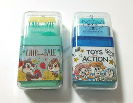 CHIP&DALE TOYS in ACTION Roller Eraser with Case TOY STORY Rare Cute Wit... - $8.60