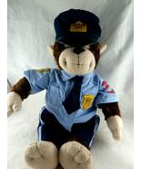 """Policeman Plush Monkey Chimpanzee Officer Uniform 18"""" Build A Bear BAB - $29.69"""