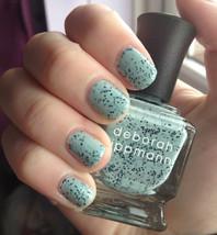 Deborah Lippmann Rockin' Robin Nail Polish Speckled Mint Green Full Size... - $12.99
