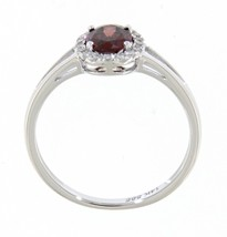 Garnet Oval Gemstone 14K White Gold 0.84 Carat Real Diamond Ring Fine Je... - $782.00