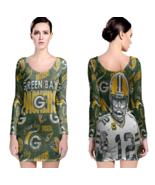 Green Bay Packers Women Sexy Long Sleeve Bodycon  Dress - $24.80+