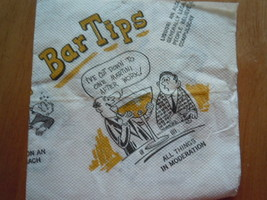 Vintage Bar Tips Cartoon Drink Napkin Napkins by Distinction By Beach Pr... - $2.99