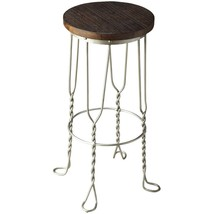 Butler Post-Industrial Iron and Reclaimed Wood Bar Stool - $94.07