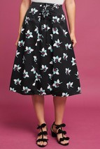Nwt Anthropologie Zadie LACE-UP Floral Print Midi Skirt By Maeve 4 - $69.83