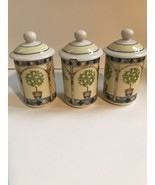 Royal Doulton Carmina(set of 3) Spice Jars - $71.36 CAD