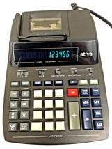 Ativa AT-P2000 Adding Machine Clock Calendar Printing Calculator 2 Color... - $27.09