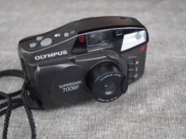 Olympus Superzoom 700BF 35mm Film Compact Camera Tested 1997 & Case - $22.76