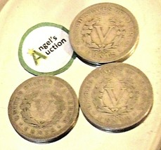 Liberty Head Nickel Five-Cent Pieces 1910 - 1912 AA20-CNN2140 Antique image 2