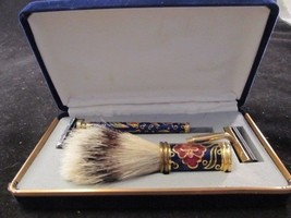 Cloisonné Razor and Shaving Brush - Gift Boxed - $42.92