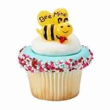 Bee Mine Cupcake Rings - 24 - $7.98