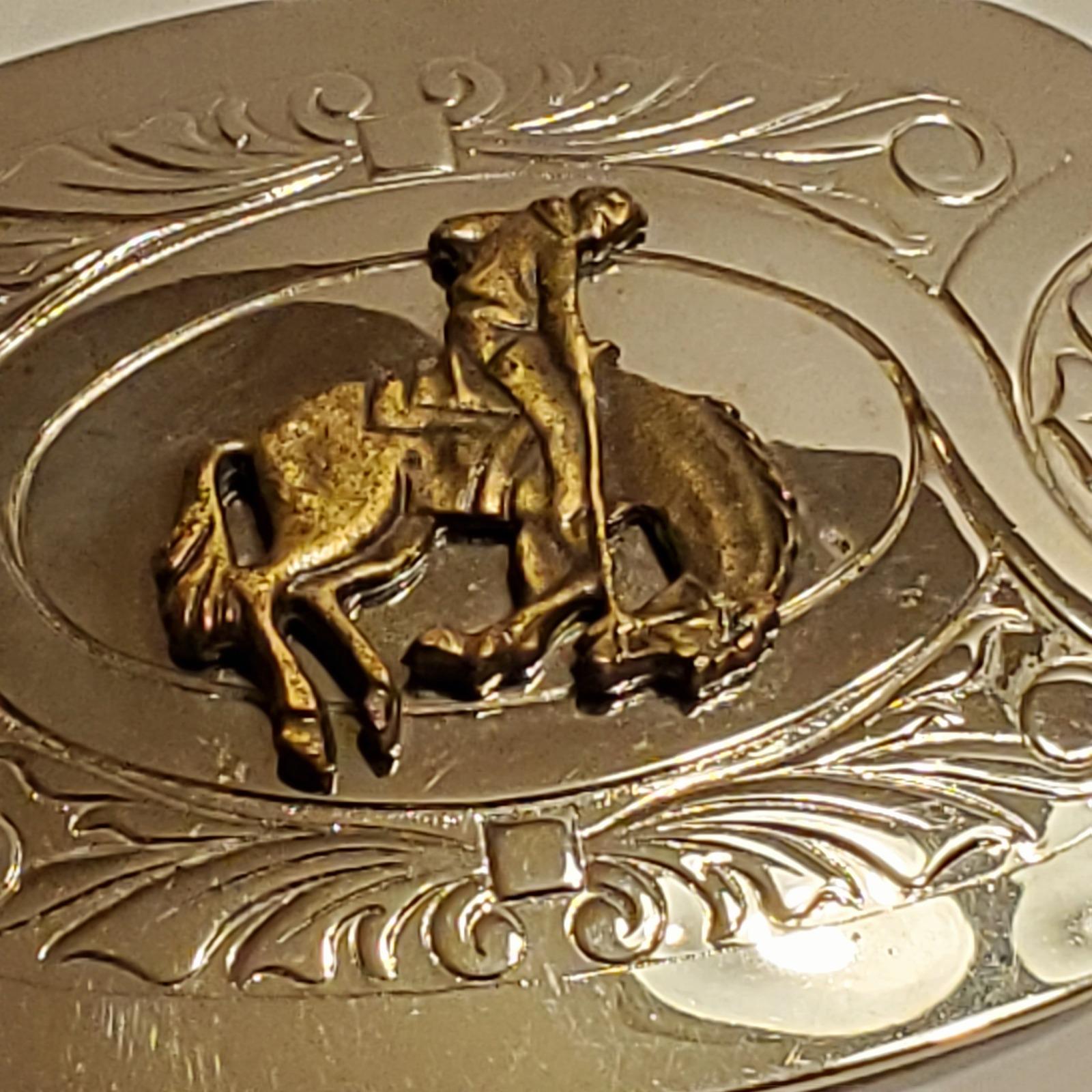 Cowboy Belt Buckle horse western colt vintage old