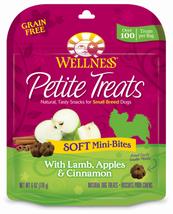 Wellness Petite Treats Grain Free Natural Soft Mini-Bites Lamb, Apples and - $14.59