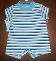 Preemie Boys Set of 2 Rompers--Blues - $13.00