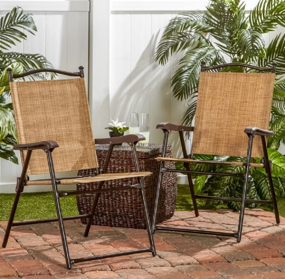 Folding Slingback Chairs UV Resistant Lightweight Portable Seating Yard Patio