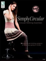 10 Spectacular Simply Circular Knitting Patterns Book Cowl Sweater Tunic Purse - $12.66