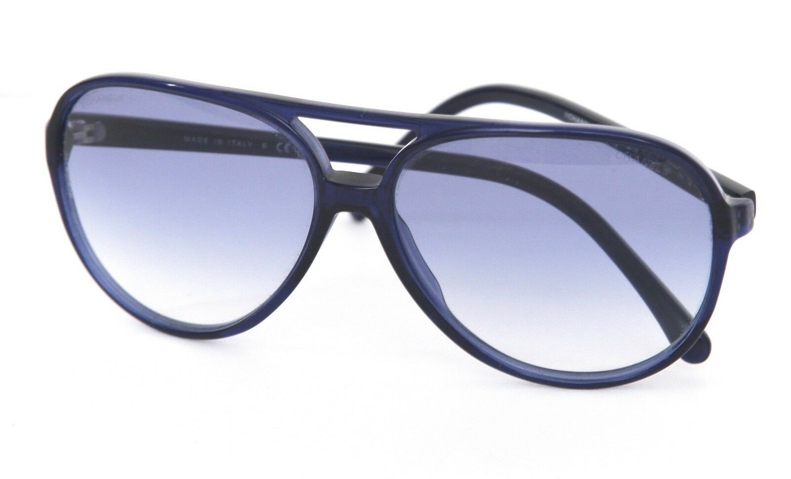 e989540334 CHANEL Blue Aviator Sunglasses Acetate Frame and 50 similar items. 57