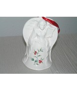 Large Pfaltzgraff 1998 White w Holly Berries Stoneware Christmas Tree Or... - $18.49