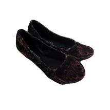 Women's Lucky Brand Velour Ballet Flats LK Emmie Size 7M/37 - $23.36