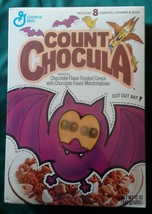 Vtg 1992 1993 Count Chocula Full Sealed Box Shrink Lenticular Vari-Vue E... - $59.99