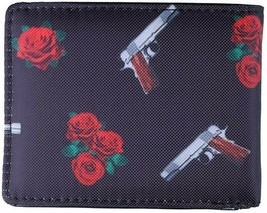 Dirty Ghetto Kids DGK Black Roses and Guns Yin and Yang Bi-Fold Wallet NEW image 2