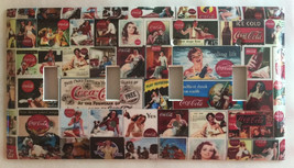 Coke Coca Cola Old posters Light Switch Power Outlet Wall Cover Plate Home decor image 6