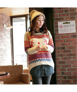 Christmas Funny Elk Sweater Ugly Knitted Sweater For Women Teen Girls Pu... - $26.42+
