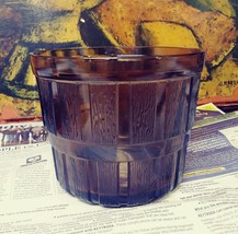 Vintage Amber Brown Glass ware Bucket - $11.87