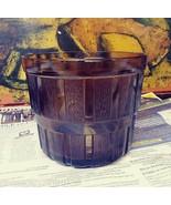 Vintage Amber Brown Glass ware Bucket - $11.87
