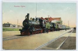 Mountain Engine Railroad Train Depot Unknown Location 1907c postcard - $6.88
