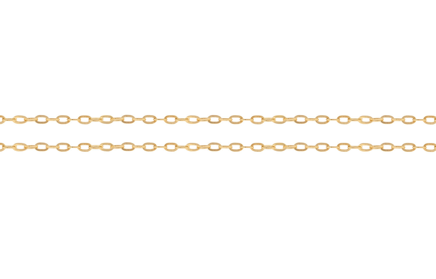 Primary image for Chains, Drawn Flat Cable Chain, 14Kt Gold Filled, 1.5x1mm, Pkg Of 5ft (6839-5)/1