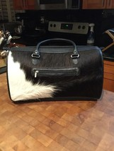 Argentinian Black And White Cowhide Overnight Bag - $205.42