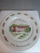 "Avon 24k gold Tenth Anniversary Plate ""The California Perfume Company""Mi... - $5.88"