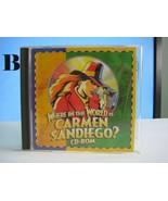 Where in the World Is Carmen Sandiego Broderbund Deluxe Windows CDROM 1994 - $14.40