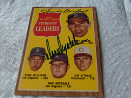 SANDY  KOUFAX  +  DON  DRYSDALE   HAND  SIGNED  AUTOGRAPHED  1962  TOPPS... - $274.99