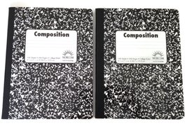 Double Pack Black and White Abstract 100 Sheet / 200 Page Composition Bo... - $4.45