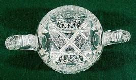 ABP American Brilliant  Cut Crystal with a Deep Cut Design Sugar Bowl - $26.18