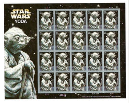 Yoda Star Wars stamp sheet #4205 - $16.00