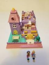 Vintage Polly Pocket Wedding Chapel Playset Bluebird Toys 1993 2 Dolls Lights up - $32.86