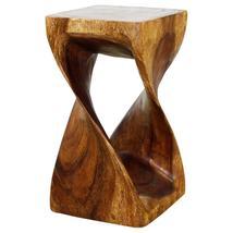 Haussmann Original Wood Twist Stool 10 X 10 X 18 In High Livos Walnut Oil - $107.95