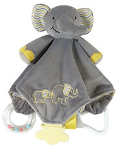 Stephan Baby Grey Elephant Chewbie Teether Security Blanket Lovie Toy - $17.75