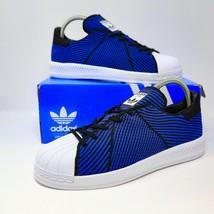 Adidas Superstar Bounce Pk Primeknit Sz 7 Blu Nero Bianco S82242 Eur 40 ... - $75.99