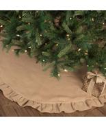 Jute Natural Burlap Line Flannel Winter Christmas Country Tree Skirt 60 ... - $49.95+