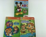 Leap Frog LeapReader Junior Board Books Set Of 3 Numbers Letters & Animals  -OE