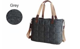 Wool Tote Side Sling Diaper Bag - Gray, Coffee or Pink - $48.95