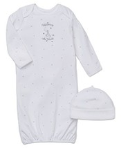 Little Me Unisex-Baby Newborn Welcome World Gown and Hat, White, 0-3 Months - $15.82
