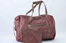 GUCCI Nylon Boston Bag Red Green Auth 6588 - $240.00